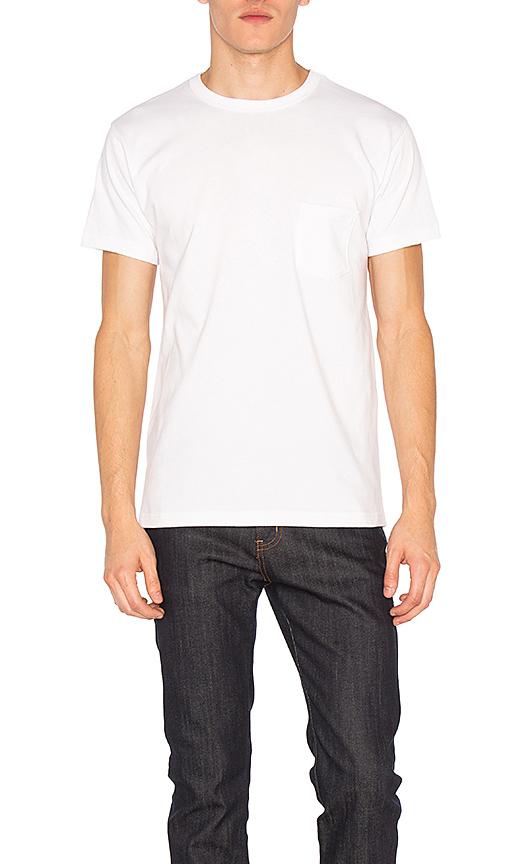3sixteen Lot De 2 T-shirts Épais Une Poche En White