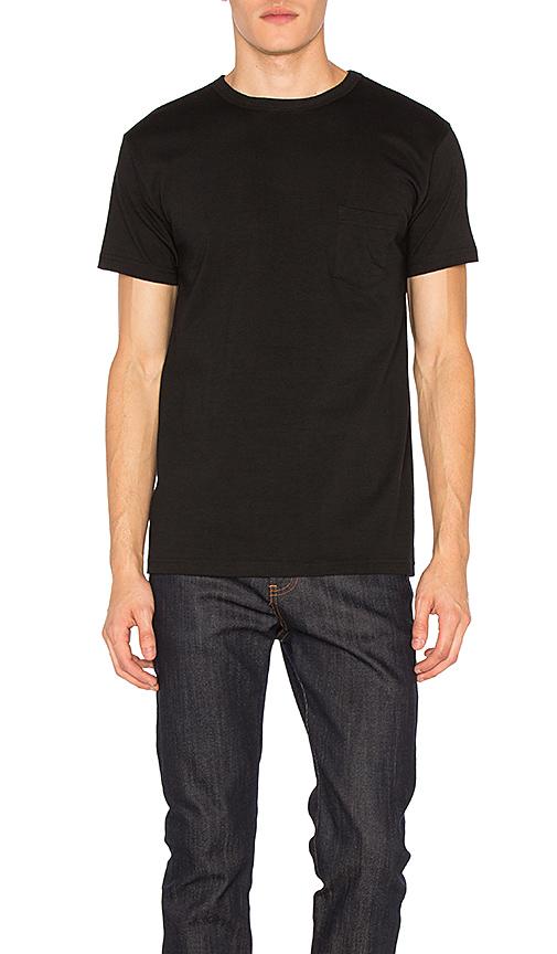 3sixteen Lot De 2 T-shirts Épais Une Poche En Black