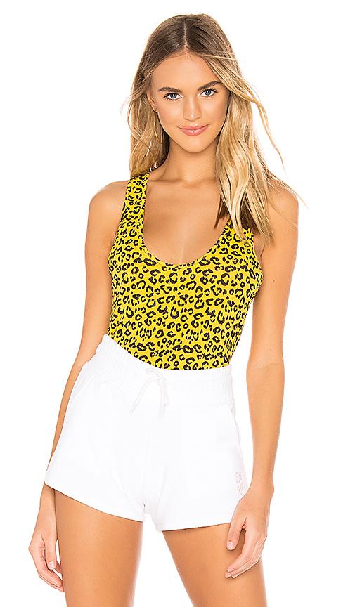 Les Girls Boys Print Tank En Yellow Leopard