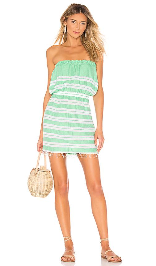 Lemlem Robe Courte Mimi En Sea Green