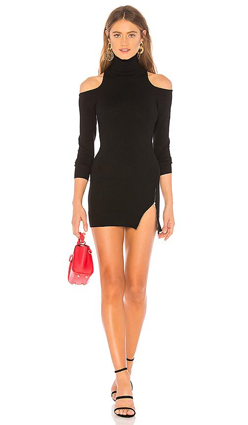 Lovers + Friends Pull Zipper Sweater En Black