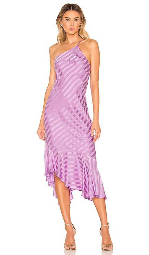 Michelle Mason Robe Mi-longue En Lilac