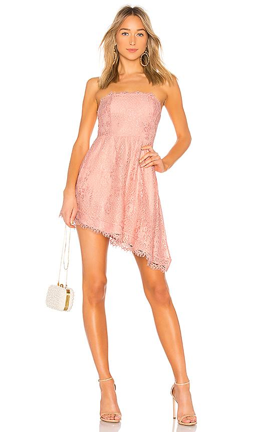 Nbd Robe Bustier Courte Cascade En Light Pink