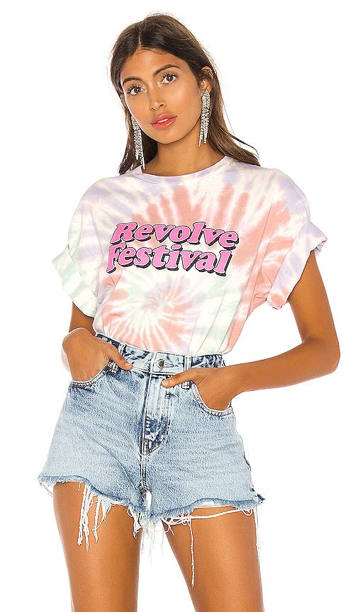 Revolve T-shirt Festival Concert En Pink Tie Dye