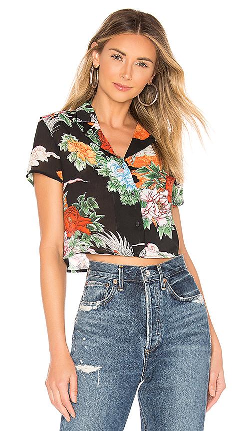 Superdown Delanie Button Up Shirt En Black Multi